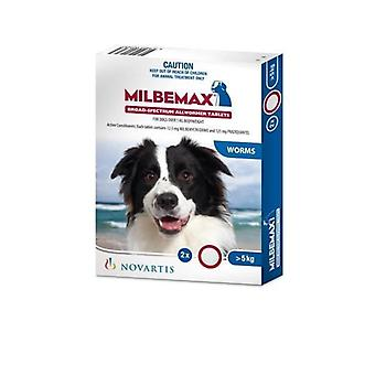 Milbemax Dog 5 - 25kg Two Tablet Pack