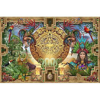 Stampa del manifesto Azteco Maya Montage di Ciro Marchetti