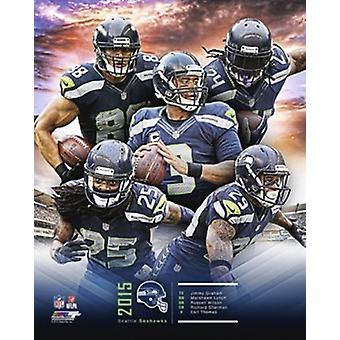 Seattle Seahawks 2015 Team Composite Sports Photo