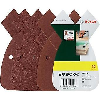 Multi-purpose sandpaper set Hook-and-loop-backed, punched Grit size 80, 120, 180 (L x W) 93 mm x 62 mm Bosch Promoline