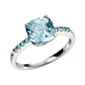 My jewel - D217 - ring in gold 375/1000 carat Blue Topaz