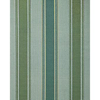 Stripe wallpaper EDEM 508-25 foam vinyl wallpaper structured in textile design and metallic effect Pine Green perl-gold silver 5.33 m2