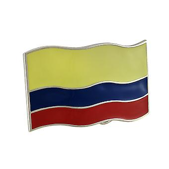 Bandiera colombiana Chrome / smalto cintura fibbia Columbia
