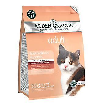 Arden Grange korn Gratis Voksen kat med fersk laks & kartoffel 400g (pakke med 6)