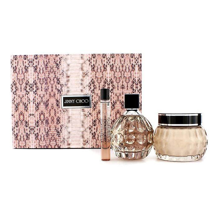 Jimmy Choo Coffret: Eau De Parfum Spray 100ml/3.3oz + Glittering Body Cream 150ml/5oz + Eau De Parfum Roll On 10ml/0.33oz 3pcs