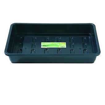 Midi Garden Tray Black Without Holes Home Planting Gardening