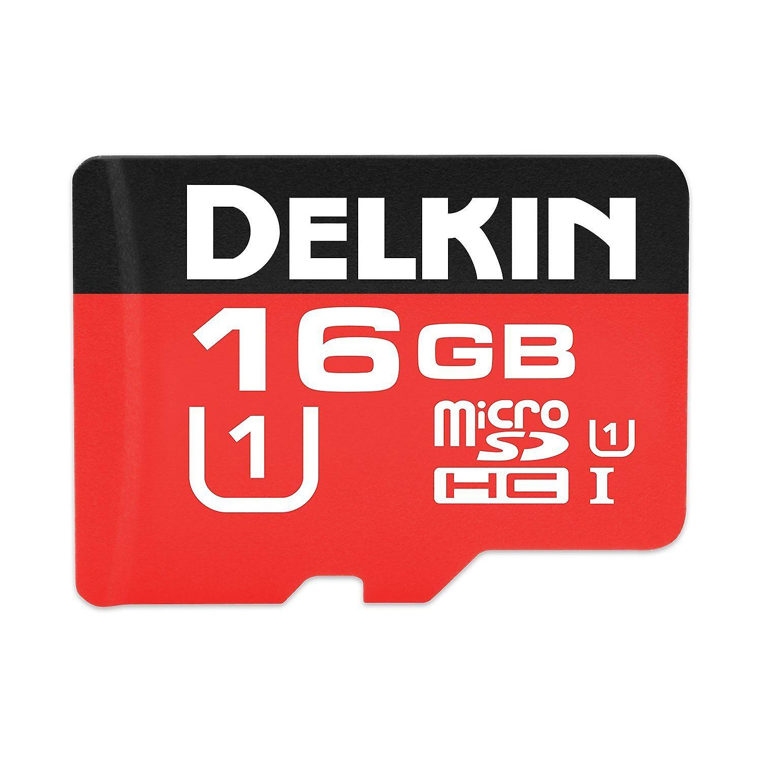 Delkin 16GB MicroSDHC 500X UHS-I Class 10 Memory Card With SD Card Adapter. - DDMSD50016GB