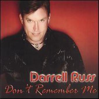 Darrell Russ - no recordarme importación de Estados Unidos [CD]