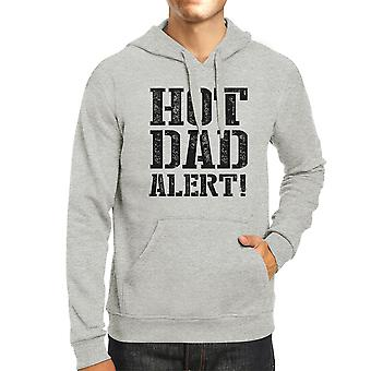 Hot Dad Alert Unisex Grey Hoodie Cute Fathers Day Gift For Him