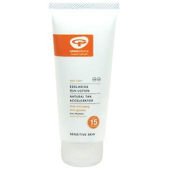 Green People Sun Lotion SPF 15 with tan accelerator (Cosmetics , Body  , Sun protection)