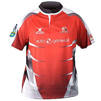 ¡GILBERT leones Inicio SupeRugby Rugby camiseta [rojo] RRP £65!