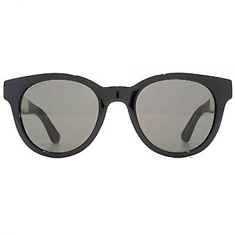 Gucci Classic Logo Round Sunglasses In Black Yellow