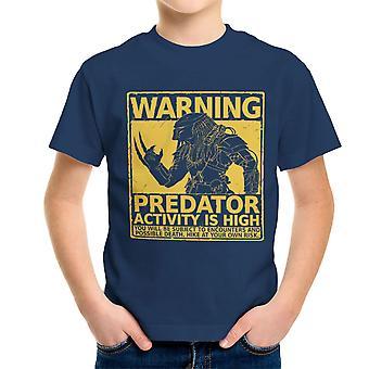 Ostrzeżenie Pedator aktywności jest wysoki dla dzieci T-Shirt
