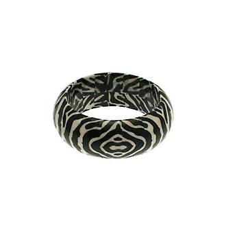 W.A.T Black Paper Mache Animal Print Bangle