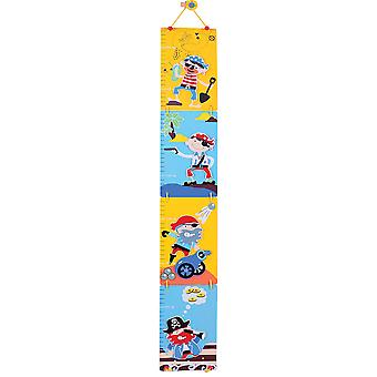 Bigjigs Toys Wooden Height Chart (Pirate)