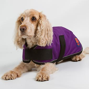 Ginger Ted Shower Waterproof Dog Coat Purple with Warm Fleece Lining (All Sizes)