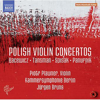 Bacewicz / Tansman / Piotr Plawner - polsk fiolin Concertos [DVD] USA import