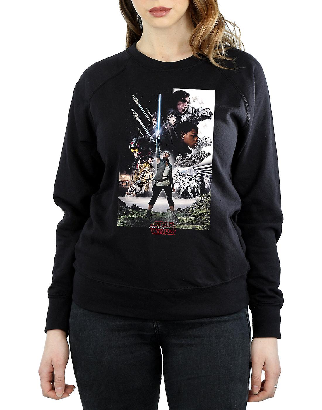 Star Wars Women's The Last Jedi Character Poster Sweatshirt