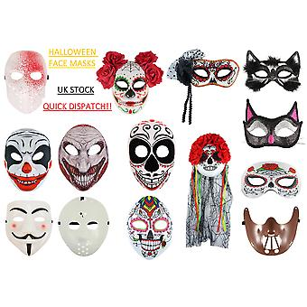 Halloween Scary Face Mask Fancy Dress Accessory Horror Clown Anonymous