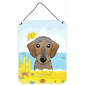 طباعة الشاطئ الصيف الكلب الألماني ويريهايريد الجدار أو الباب معلقة