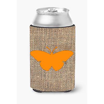 Arpillera de mariposa y naranja pueden o botella de bebida aislador Hugger BB1050