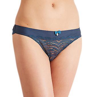 Barbara 222631 Women's Aventure Waterfall Blue Lace Knicker Panty Tanga