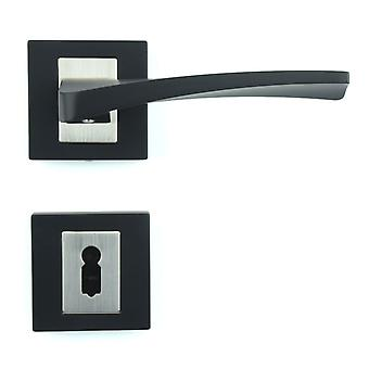 Premium Quality M4TEC ZA3 Bathroom & Toilet Interior Door Handle – Made Of Die-Cast Zinc – Powder-Coated Black Finish – Sturdy, Durable & Easy To Install – Elegant & Classy Design - Ideal For WC Doors
