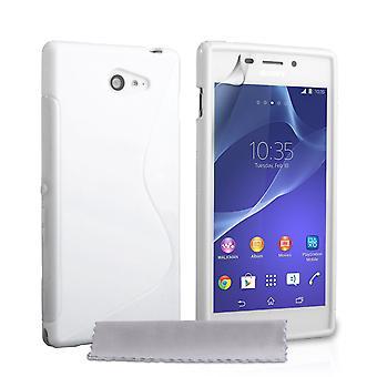 Caseflex Sony Xperia M2 Silicone Gel S-Line Case - White
