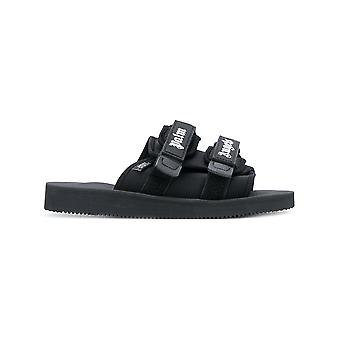 Palm Angels men's PMIA024S183420581010 black polyester sandals