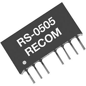 ANBEFALINGER RS-4805S 2W DC/DC omformer, SIP4 RS-4805S 5 V 400 mA 2 W