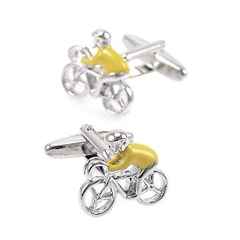 Yellow Jersey Tour De France Cycling Sports Cufflinks Bike lover Perfect Gift UK Seller