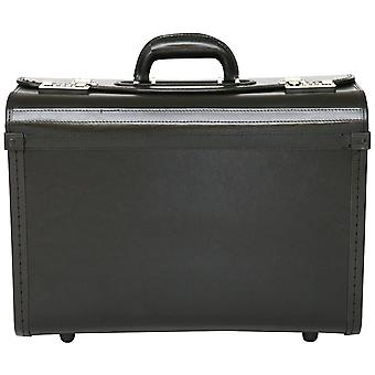 Bonded Leather Pilot Case Doctor Briefcase Hand Luggage Flight Cabin Business Bag
