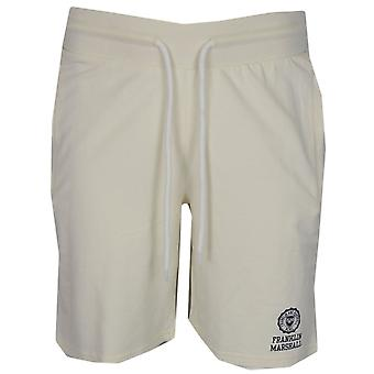 Franklin & Marshall Mf215 Cotton Printed Logo Milk White Shorts
