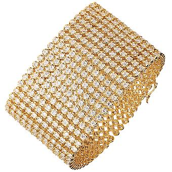 Ha ghiacciato fuori il braccialetto di bling hip-hop - RAPPER 12 riga oro