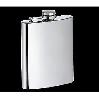 Cilio Hip Flask from Polished Stainless Steel - Height 12.5cm - Holds ca. 200ml