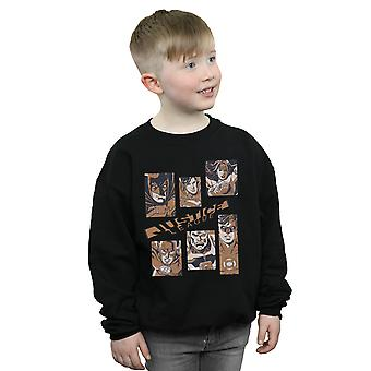 DC Comics Boys Justice League Rectangles Sweatshirt