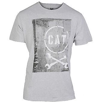 Caterpillar Mens Media Graphic Short Sleeve Casual T-Shirt