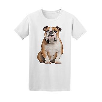 English Bulldog Chubby Sitting Tee Men's -Image by Shutterstock