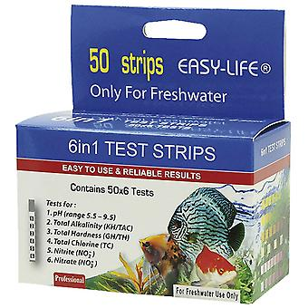 Easy-Life Test Strips 6In1:Ph,Gh,Nitrito,Nitr (Fish , Maintenance , Water Maintenance)