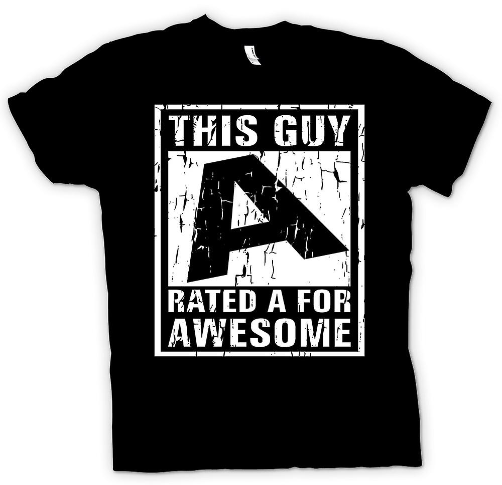 Kids T-shirt - This Guy Rated A For Awesome
