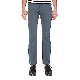 Balenciaga mænd Slim Straight Chino bukser Aqua blå