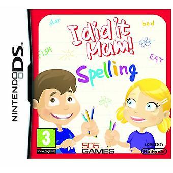 I did it Mum! Spelling (Nintendo DS) - Factory Sealed