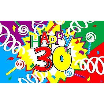 Glad for 30 års fødselsdag Flag