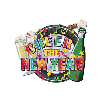 Impreso brillo papel año nuevo cartón muestra