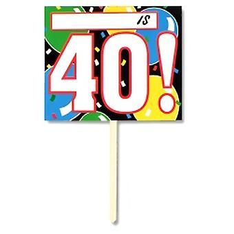 40 cumpleaños jardín muestra