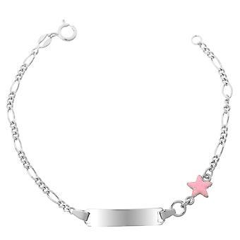 Orphelia Silver 925 Kids Bracelet Pink Star  ZA-7138