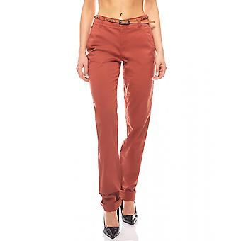 Simple Chinohose trousers long size bright red FLASHLIGHTS
