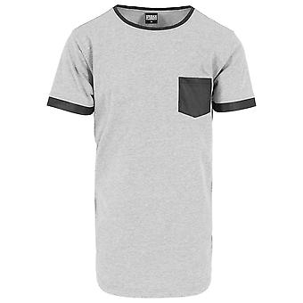 Urban classics T-Shirt formade läder imitation