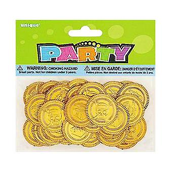 Unique Party Pirates Plastic Gold Treasure Coins