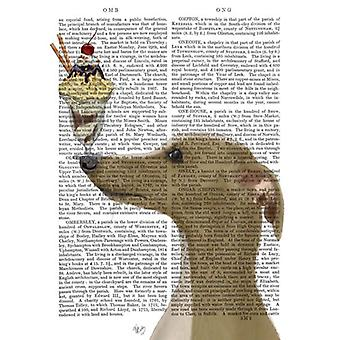 Greyhound Tan Ice Cream Poster Print by Fab Funky (13 x 19)